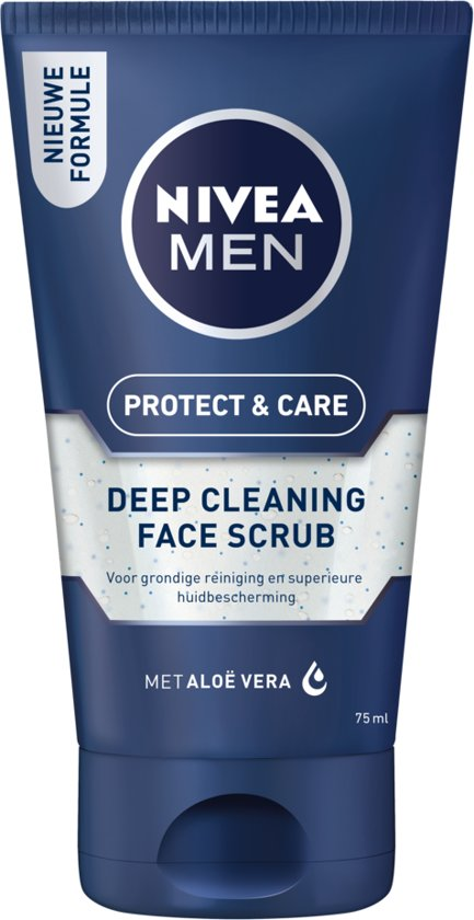 NIVEA MEN Protect & Care Face Scrub Reinigingsscrub - 75 ml