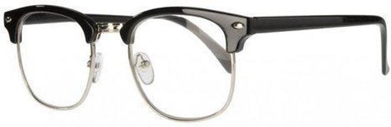 57f7b970e01daf Icon Eyewear NCB211 Clubmaster Leesbril +3.00 - Glanzend zwart
