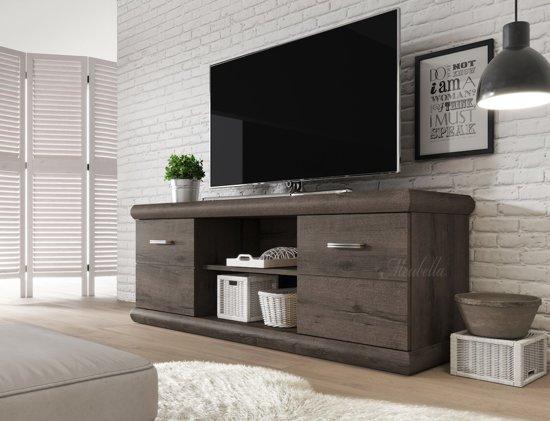Eiken Tv Kast : Bol.com meubella tv meubel crown donker eiken 157 cm