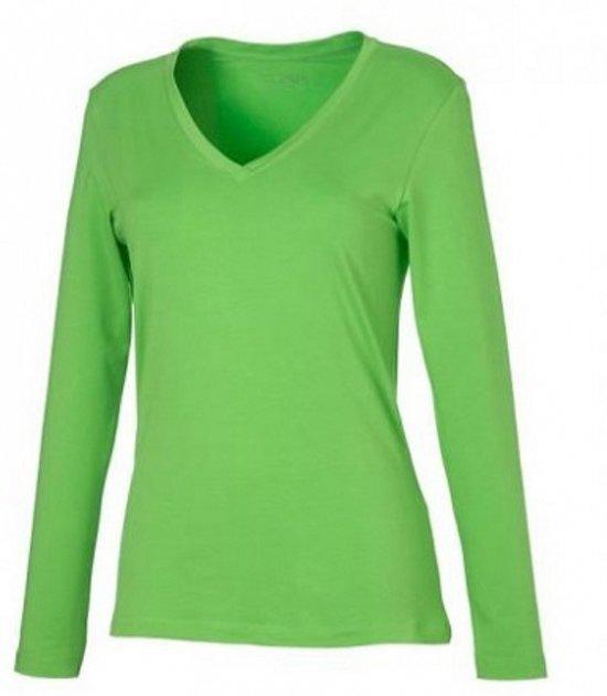 1db41ac895b Lime dames v-hals shirt lange mouw M
