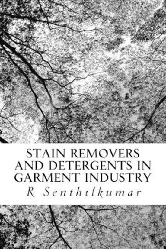 Stain Removers and Detergents in Garment Industry