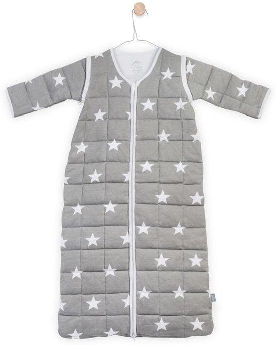Jollein Little Star Padded Babyslaapzak met afritsbare mouw - 110 cm - Grijs