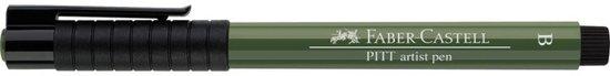 tekenstift Faber Castell Pitt Artist Pen Brush 174 chroom groen opaak