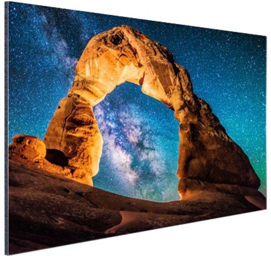 Melkweg bij Delicate Arch Aluminium 30x20 cm - Foto print op Aluminium (metaal wanddecoratie)