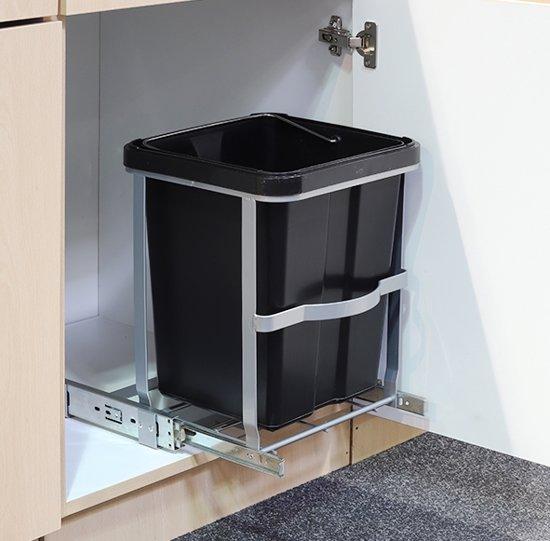Voorkeur bol.com | Haushalt 39030 Uitschuifbare keukenkast prullenbak - 14 JH58