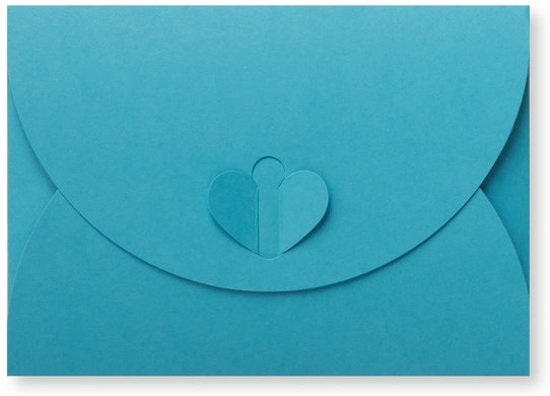 Bolcom Cadeau Envelop 11 X 156 Cm Oceaanblauw 60 Stuks