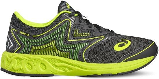 Asics Noosa Hardloopschoenen Junior Sportschoenen - Maat 39 - Unisex - zwart/geel