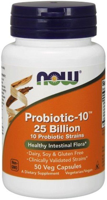 Now Foods Voedingssupplementen Probiotica, 10 - 25 miljard (50 vegetarische capsules) - Now Foods