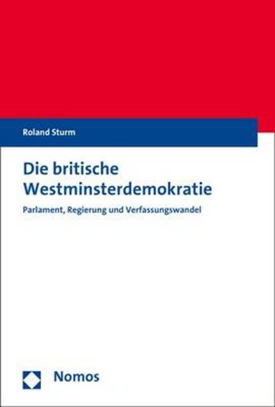 Die Britische Westminsterdemokratie