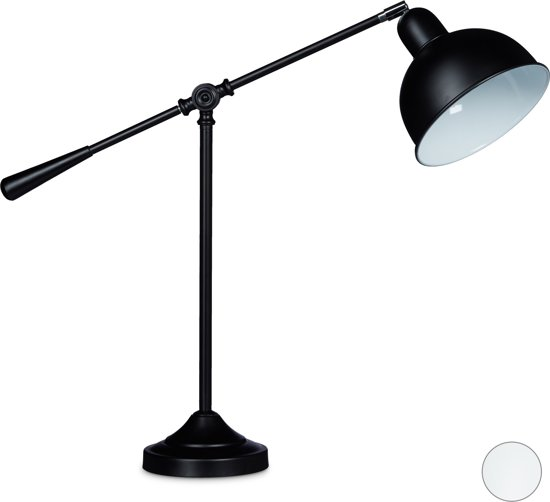 Finest relaxdays bureaulamp beweegbare leeslamp nachtlamp for Nachtlamp slaapkamer