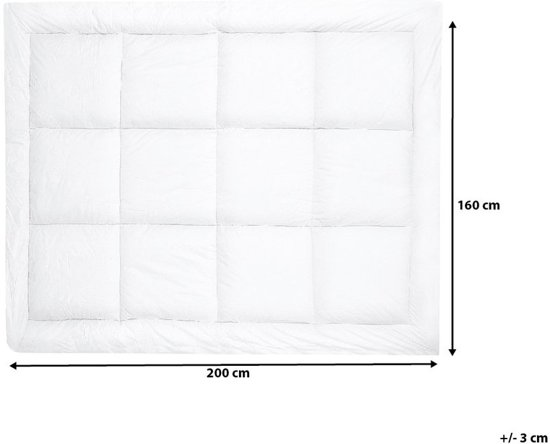 Beliani Yangra Matrasbeschermer Wit Stof 160 x 200 cm