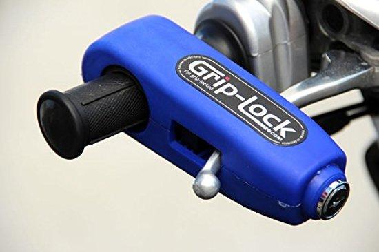 Grip-Lock slot voor motorfietsen en scooters blauw