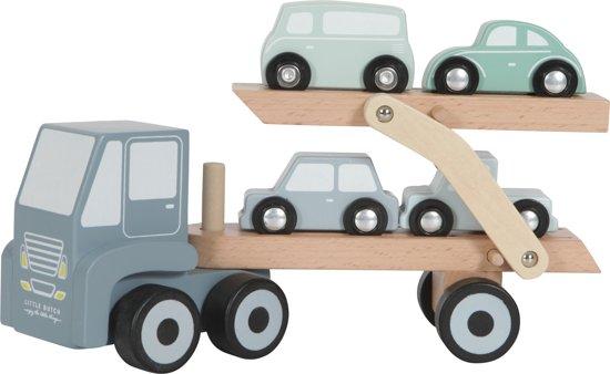 Afbeelding van Little Dutch houten Truck met oplegger speelgoed