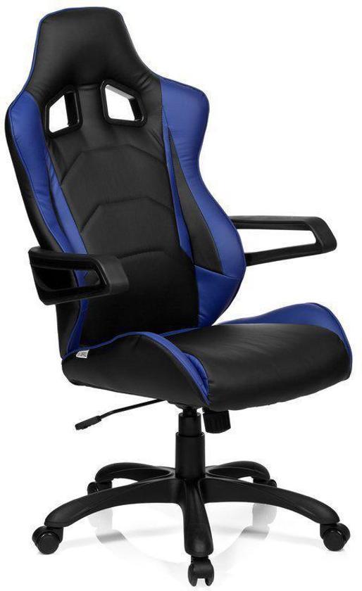 Bureaustoel Racer 200.Hjh Office Racer Pro I Bureaustoel Pu Leder Zwart Blauw