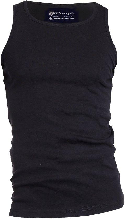 Garage 401 - Singlet semi bodyfit black XXL 100% cotton 1x1 rib