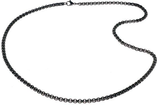 LGT Jewels Venetian Box ketting Zwart 2mm-66cm