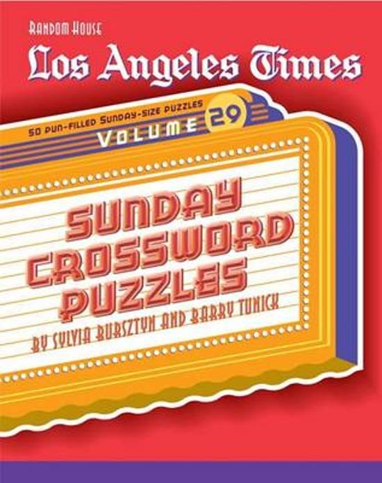 Bol com los angeles times sunday crossword puzzles volume 29