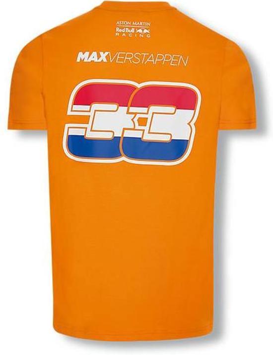 Red Bull Racing oranje Max Verstappen shirt M