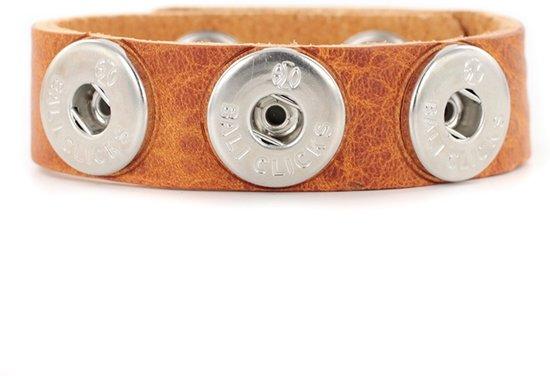 Bali Clicks Original Extra Large Leren armband Tan