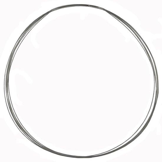 Quiges - Roestvrij Stalen Halsketting 43cm voor Munthouders en Charms - EPK059