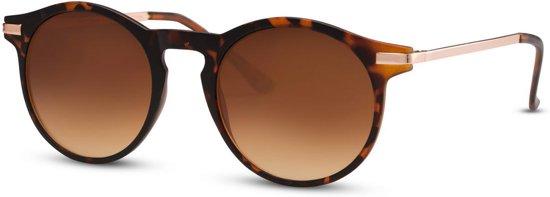 Cheapass Zonnebrillen - Ronde zonnebril - Goedkope zonnebril - Luipaard
