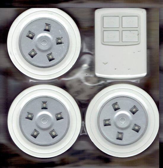 draadloze led verlichting inclusief afstandsbediening dd 1216
