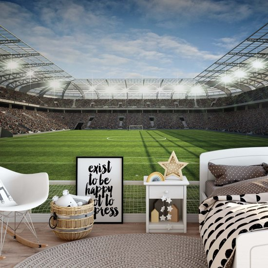 Fotobehang Football Stadium   V8 - 368cm x 254cm   130gr/m2 Vlies