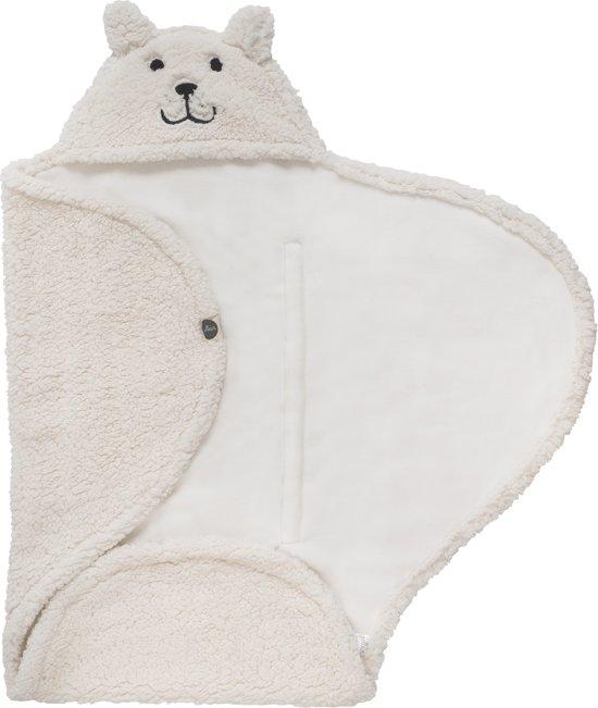 Jollein Teddy Bear Wikkeldeken - Off White