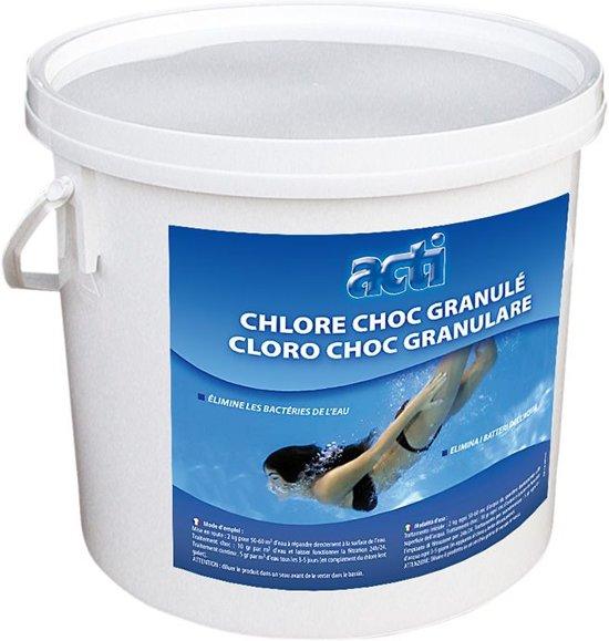 Chloor shock granulaat 5 kg voor zwembaden