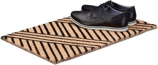 relaxdays - deurmat strepen - voetmat - mat voordeur - kokosmat - kokosvezels