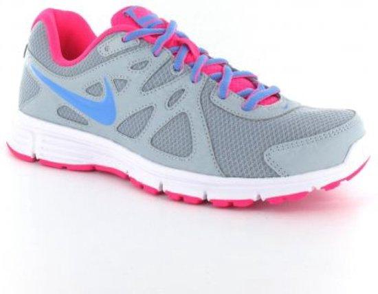 Nike Revolution 2 MSL - Hardloopschoenen - Neutraal  - Vrouwen - Maat 36.5 - Grijs/ Roze