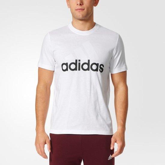 9f696b6638f bol.com | adidas Essentials Linear Tee - Sportshirt - Heren - XL - White