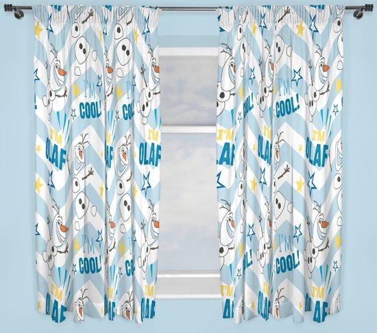 bol.com | Frozen Olaf Gordijnen Set (2 stuks 168x137cm)