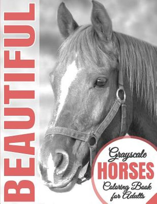 Bol Com Beautiful Grayscale Horses Coloring Book For Adults