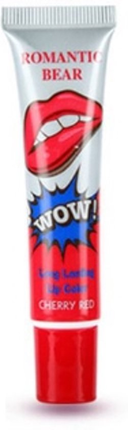 WOW Peel off Lipgloss - lip peel off cream - long lasting lipstick - Cherry red