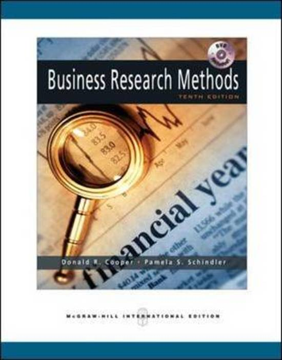 cooper and schindler 2003 business research methods pdf