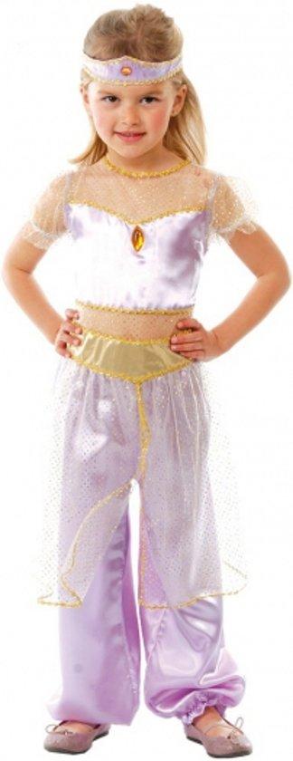 Paars Arabische prinses kostuum 128-134 (7-9 jaar)