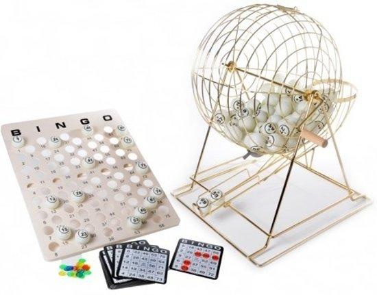 Afbeelding van het spel Bingomolen XL groot koper 50cm. met 75 ballen