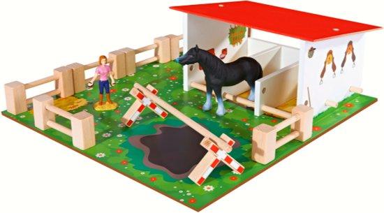 Eichhorn Paardenstal  houten speelgoed