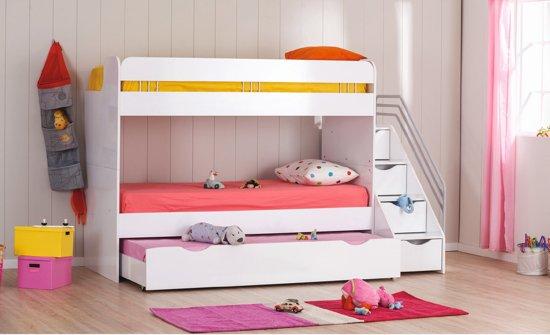 Kinderkamer Kinderkamer Bedden : Bol.com robin stapelbed voor de kinderkamer wit