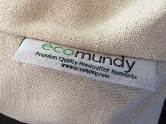 ECOMUNDY PURE XL 360  WIT - Luxe 2-persoons hangmat - handgeweven biologisch katoen - GOTS - 160x240x360cm Max 250kg