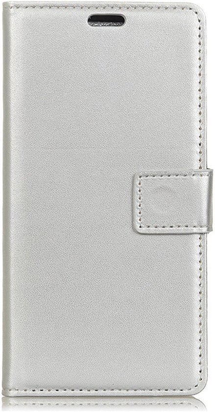 Shop4 - Samsung Galaxy A6 (2018) Hoesje - Wallet Case Business Zilver
