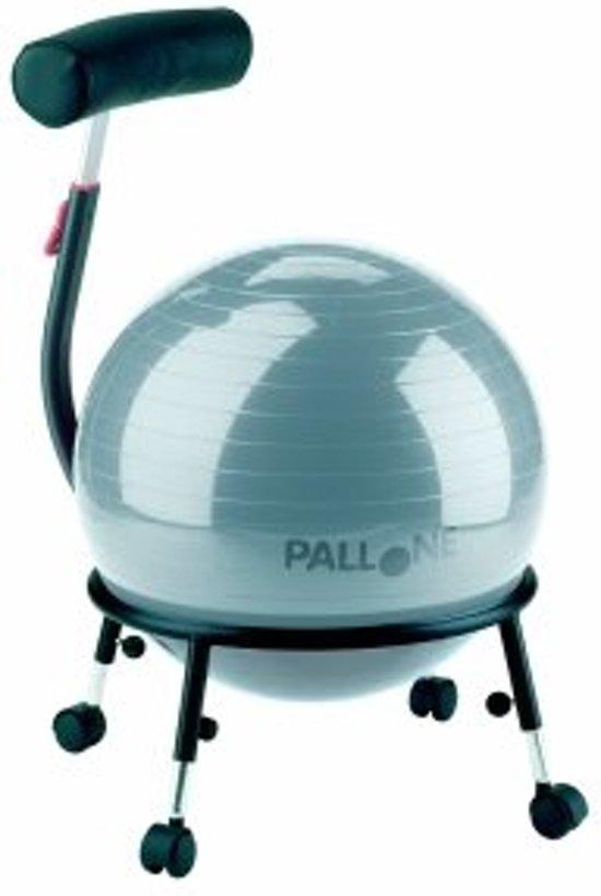 Balstoel 121B - Pallosit zitbal - in hoogte verstelbaar - Zilver grijs