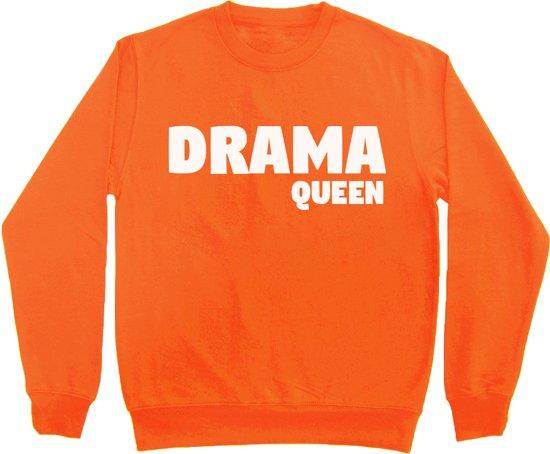 Oranje Trui.Bol Com Oranje Sweater Koningsdag Drama Queen Maat S Bulbby