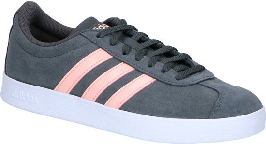 adidas Vl Court 2.0 Dames Sneakers - Grey Six/Glow Pink/Ftwr White - Maat  36.5