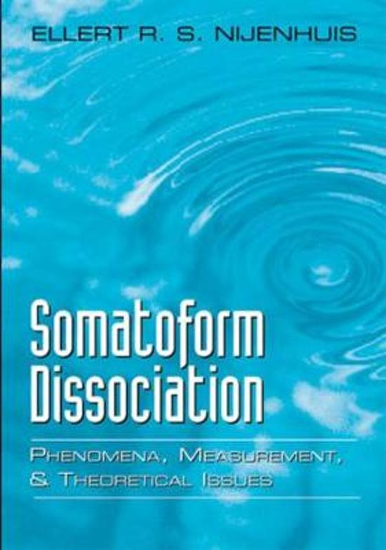 Somatoform Dissociation