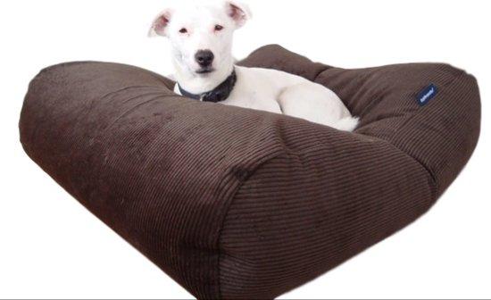 Dog's Companion hondenkussen - XL -  140 x 95 cm - chocolade bruin ribcord