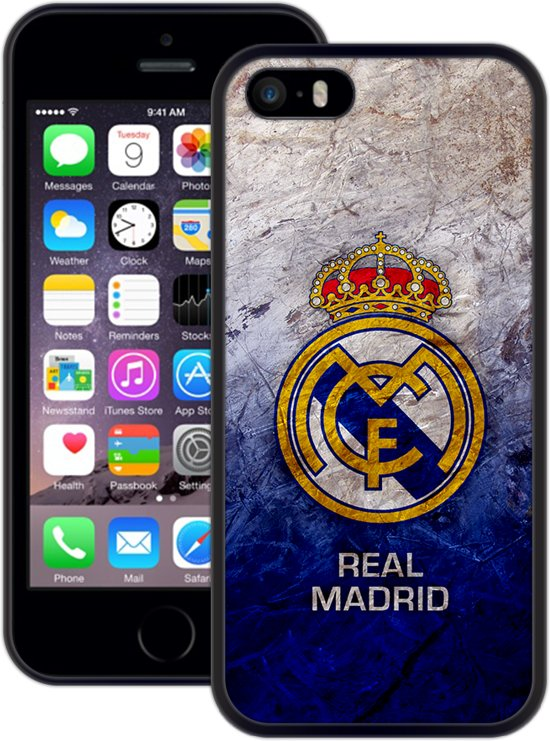 Bol Real Madrid Handmade Iphone 5 5s Se Zwart Tpu Hoesje