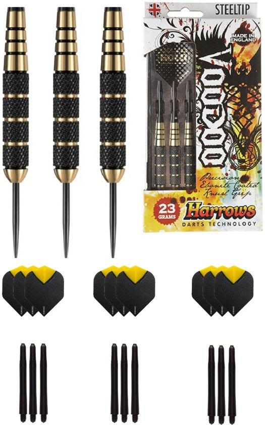 Harrows - Voodoo 23 gram - dartpijlen - met - cadeauset - dartshafts - dartflights