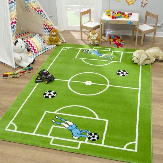Goede bol.com | Voetbal - Kids - 80x150 cm - Groen - Laagpolig Vloerkleed KS-69